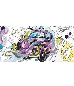 Ingelijste Posters: Volkswagen Kever Popart