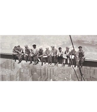 Ingelijste Posters: Lunchtijd bouwvakkers
