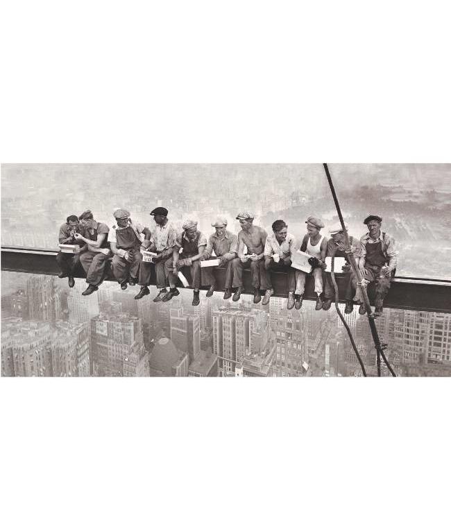 Kunstzinnige Ingelijste Posters: Lunchtijd bouwvakkers