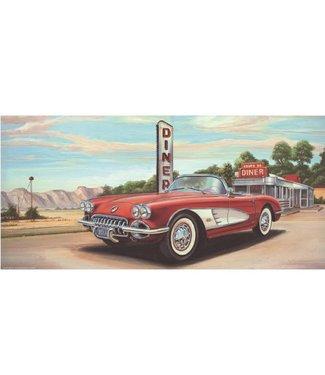 Ingelijste Posters: Route 66 Diner