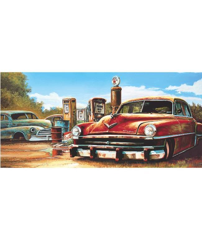 Kunstzinnige Ingelijste Posters: Route 66 autosloperij