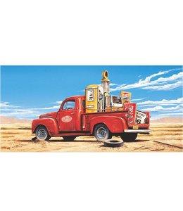 Ingelijste Posters: Route 66 Pickup truck in de woestijn