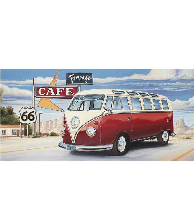 Ingelijste Posters: Route 66 Volkswagen bus