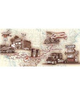Ingelijste Posters: Route 66 Routekaart