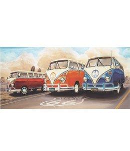 Ingelijste Posters: Route 66 Drie Volkswagen bussen