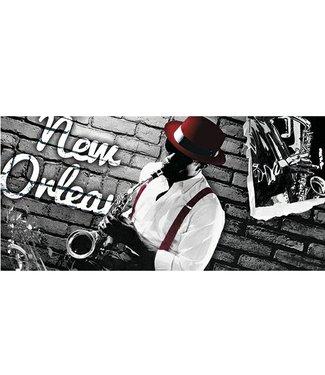 Ingelijste Posters: Saxofoon speler in New Orleans