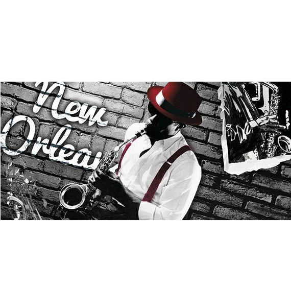 Kunstzinnige Ingelijste Posters: Saxofoon speler in New Orleans