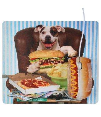 USB Muis en muismat Hot Dog