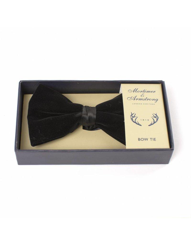 9d01bdb5e7bc3 Mortimer & Armstrong Black velvet bowtie in box - Mortimer & Armstrong