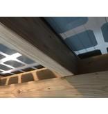 Lariks / Douglas zonnepanelen veranda 4 x 3,4 meter