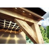 Solvana Lariks / Douglas zonnepanelen veranda 7 x 3,4 meter