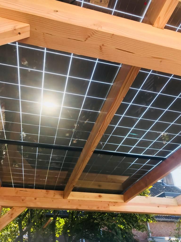 Solvana Douglas zonnepanelen carport - 4138 MM X 3596 MM