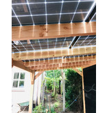 Lariks / Douglas zonnepanelen veranda 6 x 3,4 meter