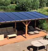 Douglas / Lariks zonnepanelen veranda 8 x 3,4 meter
