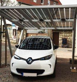 Aluminium  Solar carport 3.11 x 3,5 meter