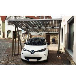 Aluminium  Solar carport 4 x 3,5 meter
