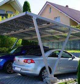 Aluminium  Solar carport 6.20 x 3,5 meter