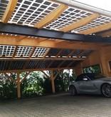 Maat carport Hout 10 x 6 mtr. 10 KwH