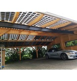 Maat carport Hout 10 x 6 mtr. 10 KwH