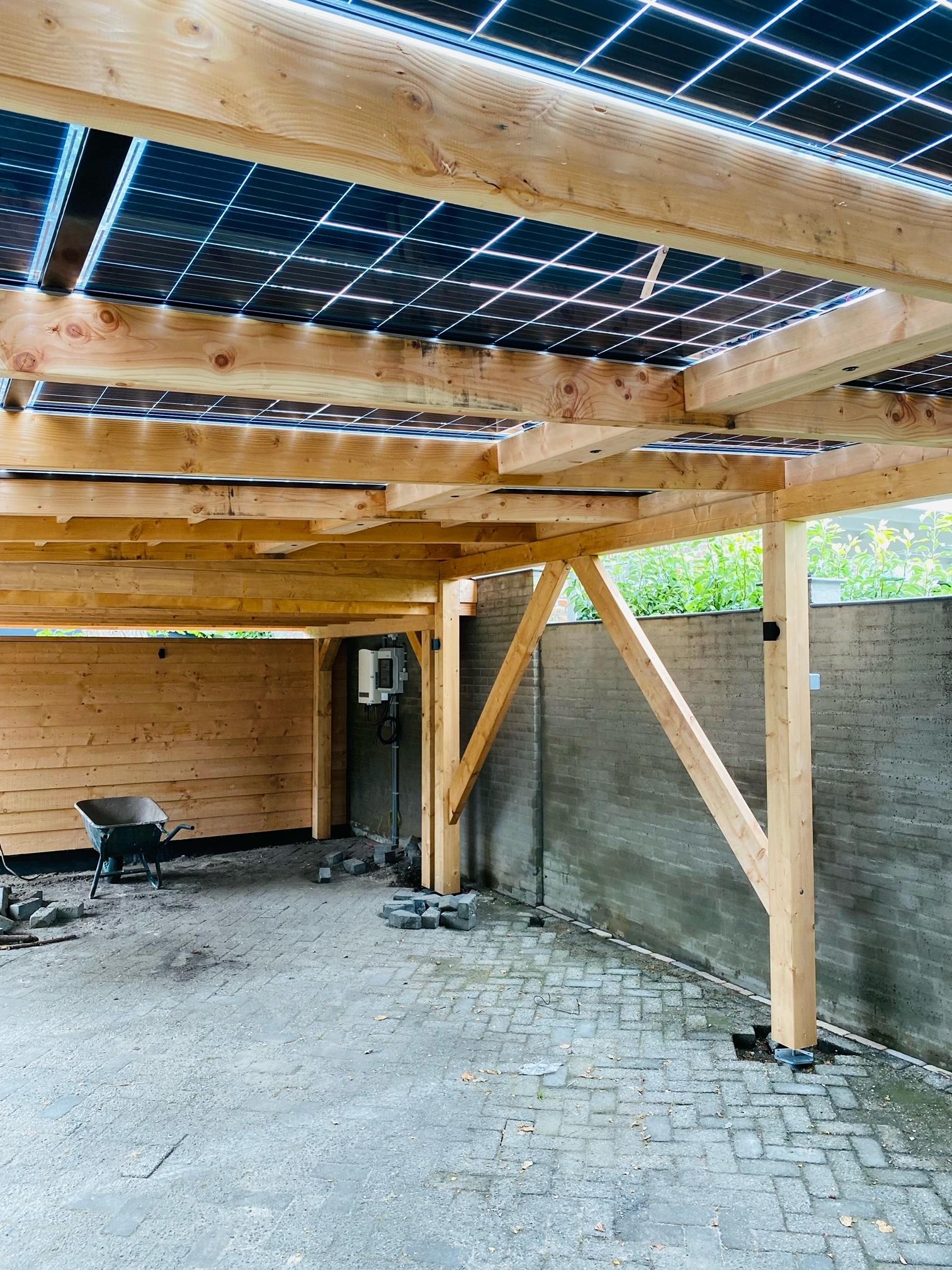 zonnepanelen carport - 5410 MM X 3596 MM
