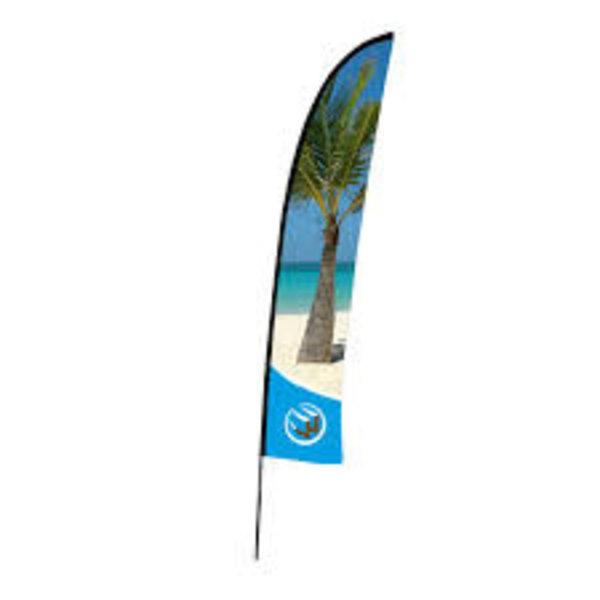 Beachflag 85 x 380 cm.