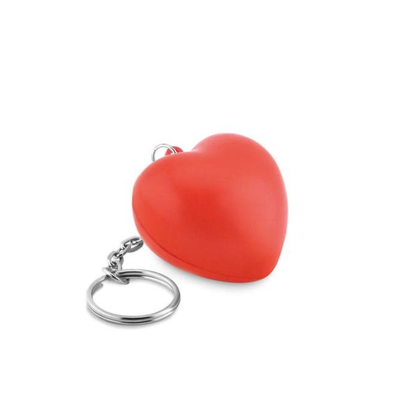 Lovy ring -/ sleutelhanger met PU hart