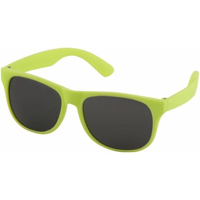 Retro zonnebril, neon green