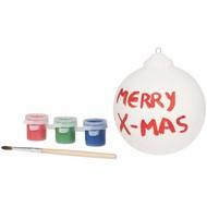 Kerstbal schilderen