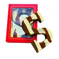Letter S marmer 150 gr. witte of rode doos