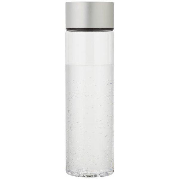Fox drinkfles, transparant / zilver