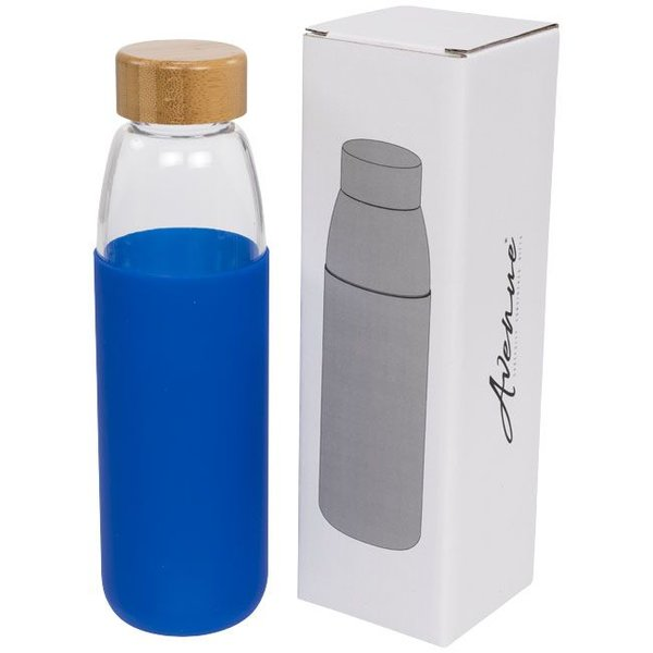Kai 540 ml glazen drinkfles met houten deksel