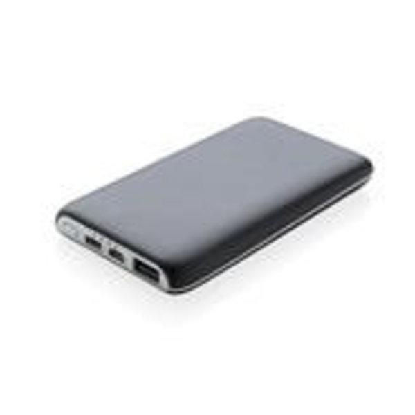 4.000 mAh wireless powerbank with suction pads, black