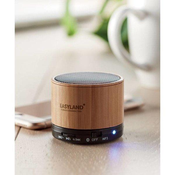 Speaker Round Bamboo