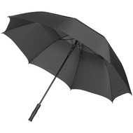 "30""Auto open vented umbrella, solid black"