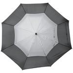"30""Auto open vented umbrella, solid black"