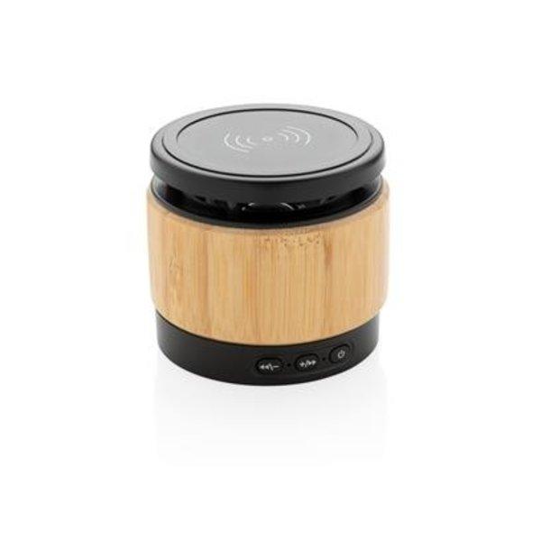 Bamboe 3W speaker met draadloze oplader