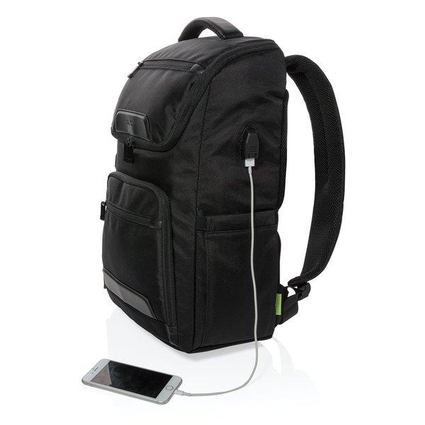 """Swiss Peak RPET Voyager USB & RFID 15.6""""laptop rugtas"""