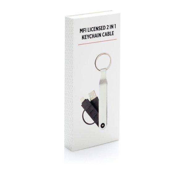 2-in-1 sleutelhanger en oplader met Mfi licentie