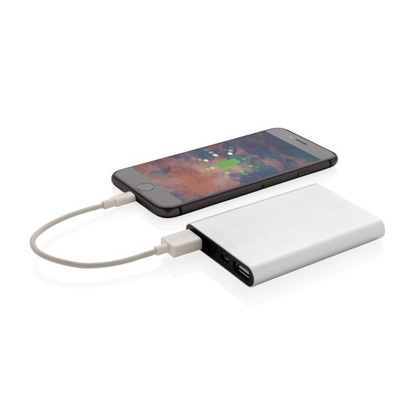 Aluminium 5.000 mAh zakformaat powerbank