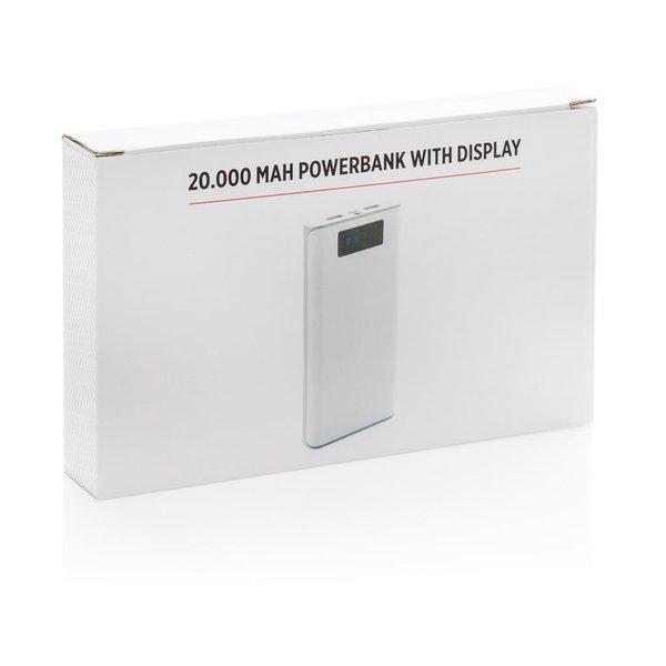 20.000 mAh powerbank met display