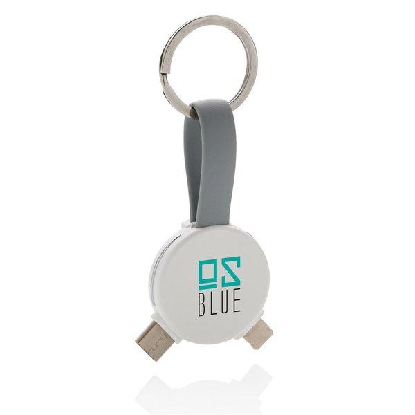 3-in-1 ronde sleutelhanger kabel