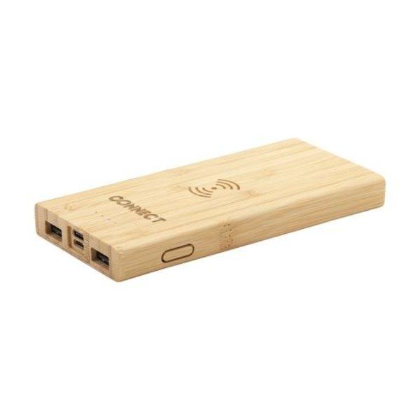 Bamboo 8000 Wireless Powerbank draadloze oplader