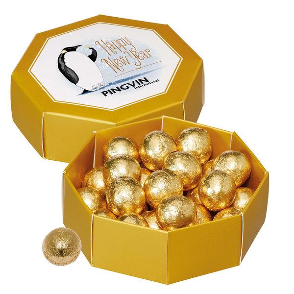Geschenkdoos met gouden kogels