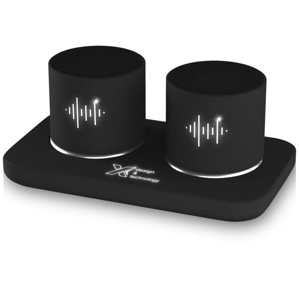 SCX.design S40 speaker stereo 2x3W met oplichtend logo.