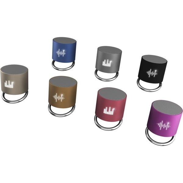 SCX Design SCX.design S26 speaker 3W voorzien van ring met oplichtend logo.