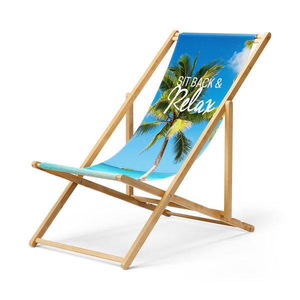 Strandstoel eigen bedrukking