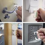 Hygiene sleutel met rollerclip