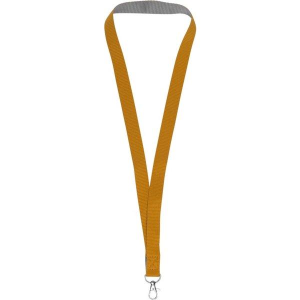 Aru tweekleurige lanyard met klittebandsluiting