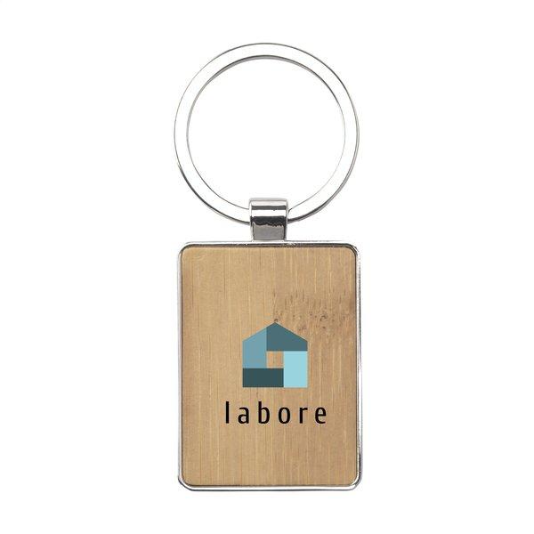 Bamboo Key Rectangle sleutelhanger