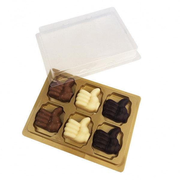 6 duim chocolaatjes